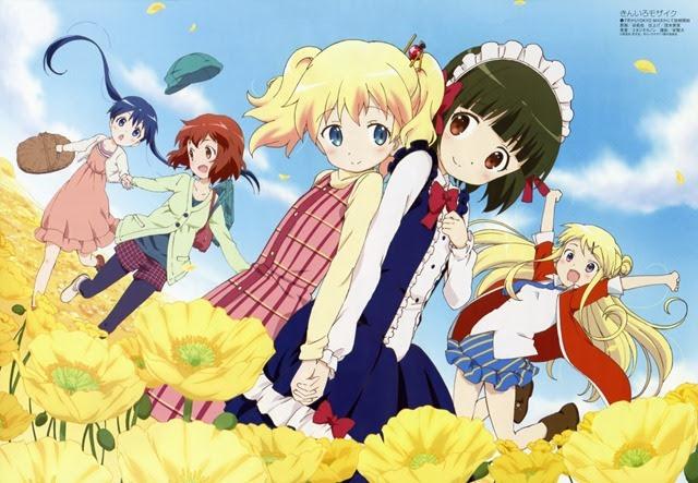Kin-iro Mosaic anime manga