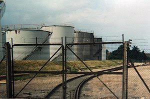 The Dow Chemical spur of the King's Lynn docks...
