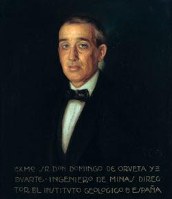 Retrato  de Domingo de Orueta perteneciente a la galería de directores del Instituto Geológico y Minero de España.