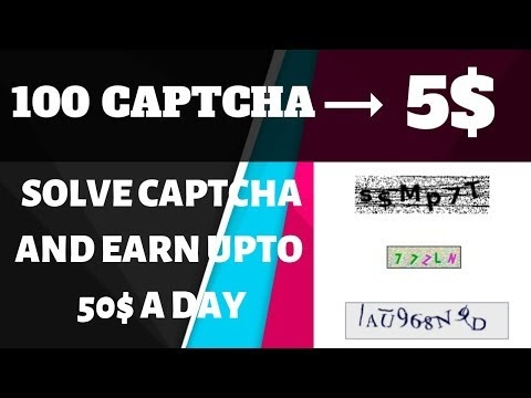 Online captcha entry work without investment daily payment