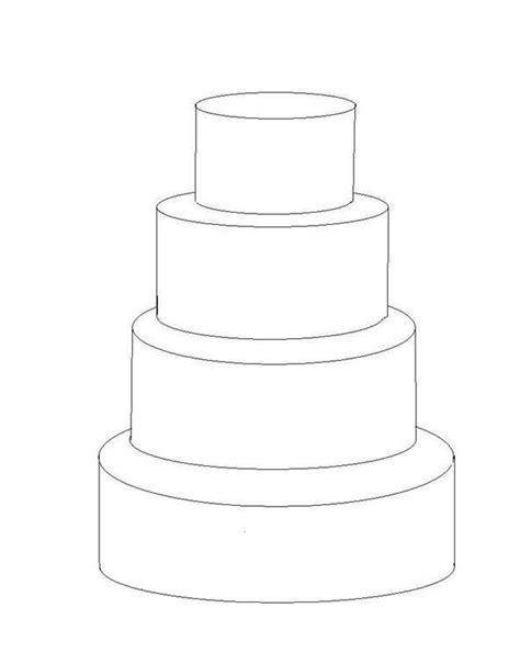 4 tier cake template   cakes   Pinterest   Tier cake, Cake