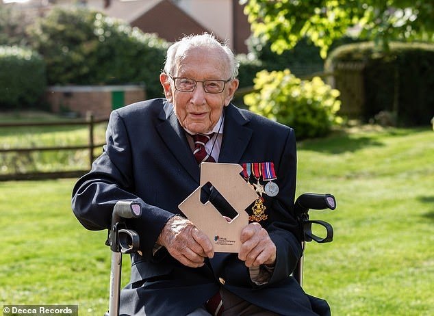 Captain Tom Moore, 99, 'is added to honours shortlist as nominations flood in' after he raised £28m for the NHS and became oldest person to have a Number 1 single