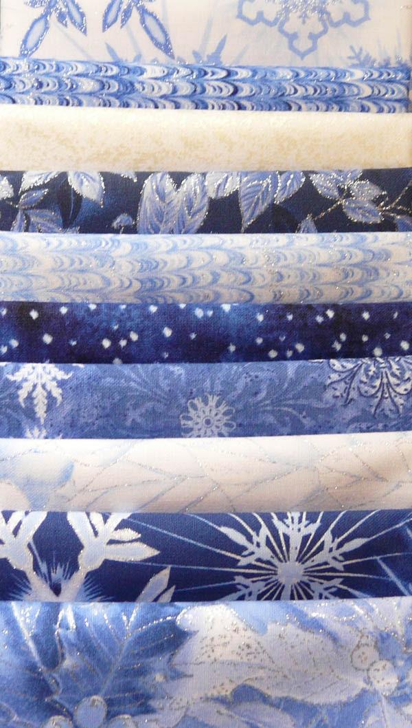 "Ice Fat Quarter Bundle of 10 - ""The Quilted Crow Quilt Shop, folk art quilt fabric, quilt patterns, quilt kits, quilt blocks"