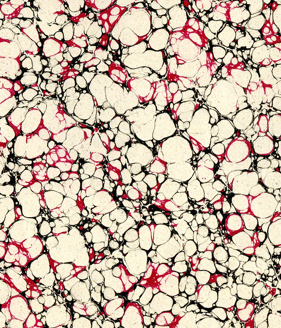 Vintage 19th c. marbled paper, Italian pattern (19)