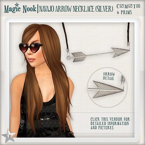 [MAGIC NOOK] Navajo Arrow Necklace (Silver)