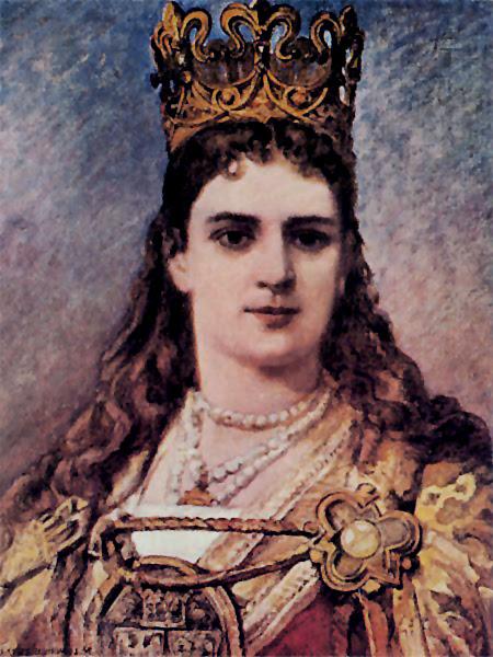 Portrait of Queen Jadwiga of Poland, painted by Jan Matejko