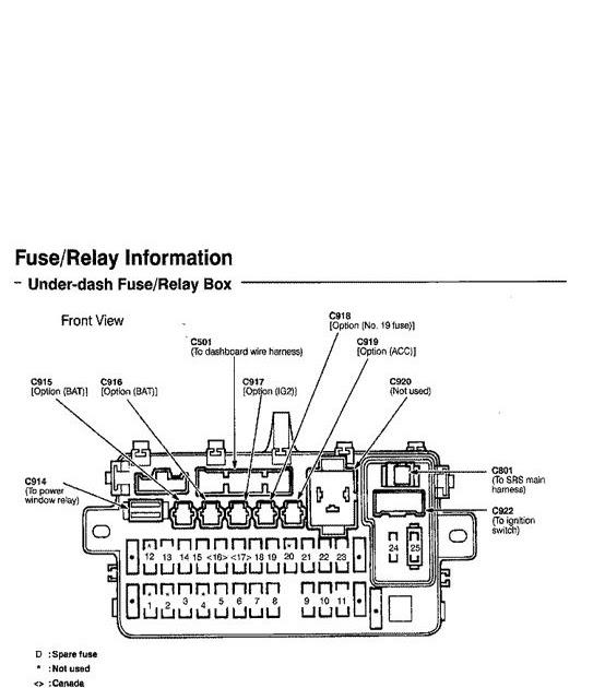 94 Del Sol Fuse Diagram