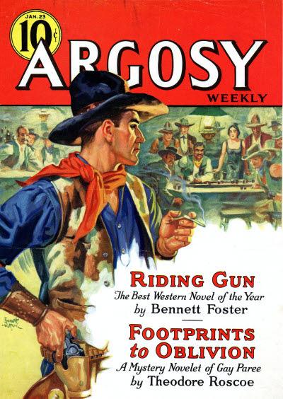 Argosy Jan 23, 1936 cover featuring Bennett Foster