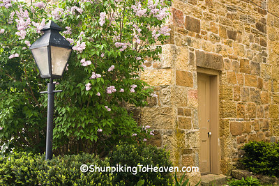 Lilacs, Lampost, and Stone, Iowa County, Wisconsin