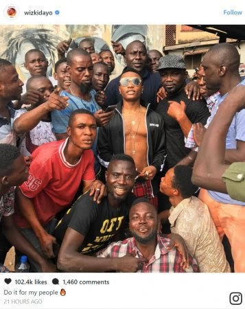 Wizkid Mobbed By Excited Fans As He Lands In Surulere [Photos]