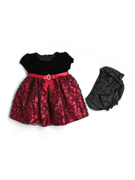 baby girl cinderella brand black velour red holiday