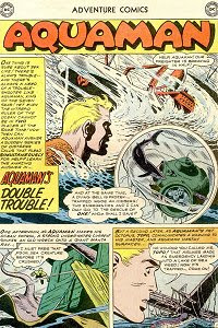 Adventure #255 Aquaman Splash Page