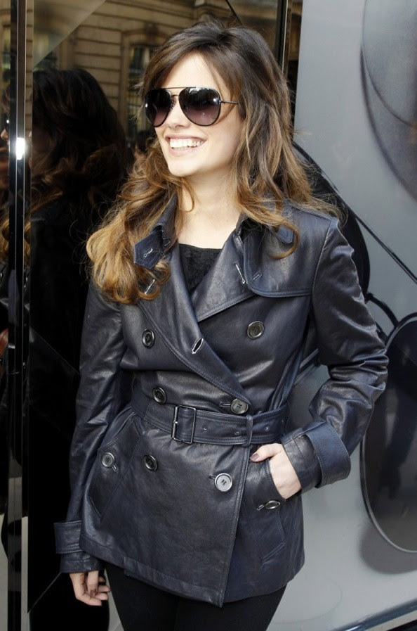 4 P - Lucie Lucas at the Burberry Eyewear event in Paris0004