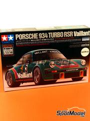 Maqueta de coche 1/24 Tamiya - Porsche 934 Turbo RSR Grupo 4 Vaillant Kremer Racing Nº 5 - Bob Wollek - Campeonato Alemán 1976 - maqueta de plástico y fotograbados