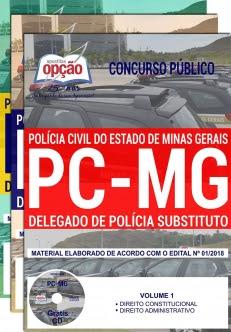 Concurso PC MG 2018-DELEGADO DE POLÍCIA SUBSTITUTO