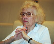 In this June 23, 1999 file photo Olga Ulyanova, niece of Soviet founder Vladimir Lenin, attends a press conference in Moscow, Russia. Ulyanova, the niece and last direct kin of Soviet founder Vladimir Lenin has died in Moscow. by Pan-African News Wire File Photos