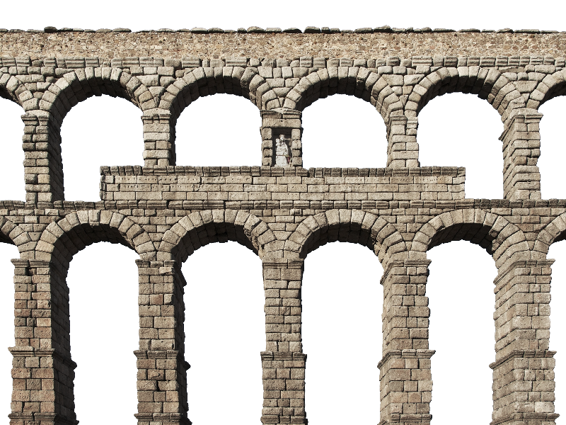Medieval Castle Stone Arch Bridge Png Isolated Objects Textures