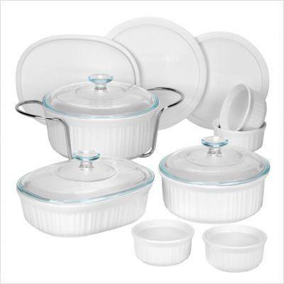 CorningWare 14 Piece French White Bakeware Set