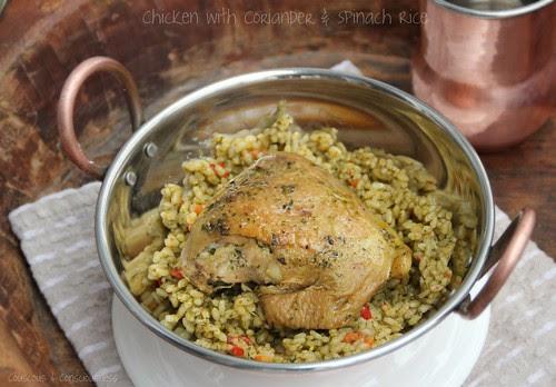Chicken with Coriander & Spinach Rice 1