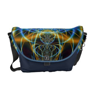 Delicate Swirls Messenger Bag