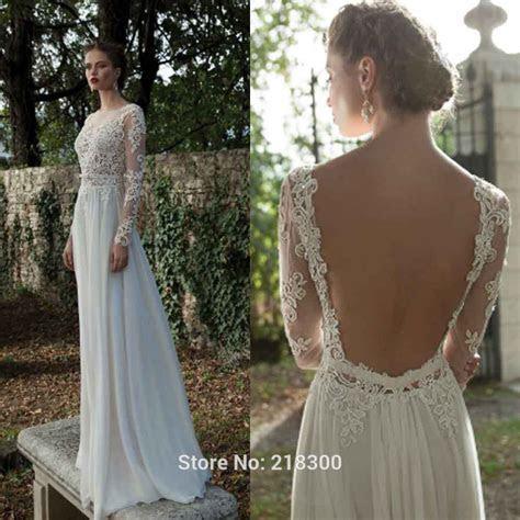 Aliexpress.com : Buy Backless Long Sleeve Lace Wedding
