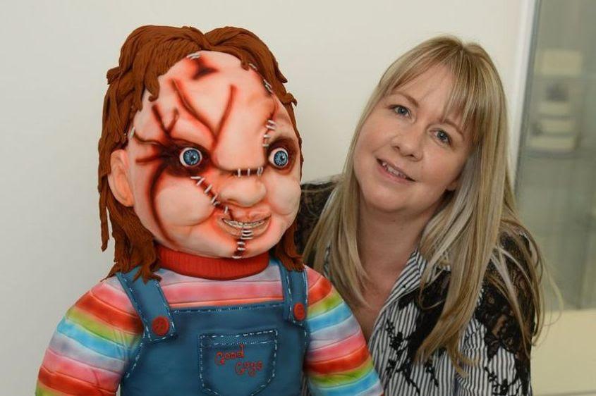 Baker Lesley Ross Makes Life Sized Chucky Doll Cake