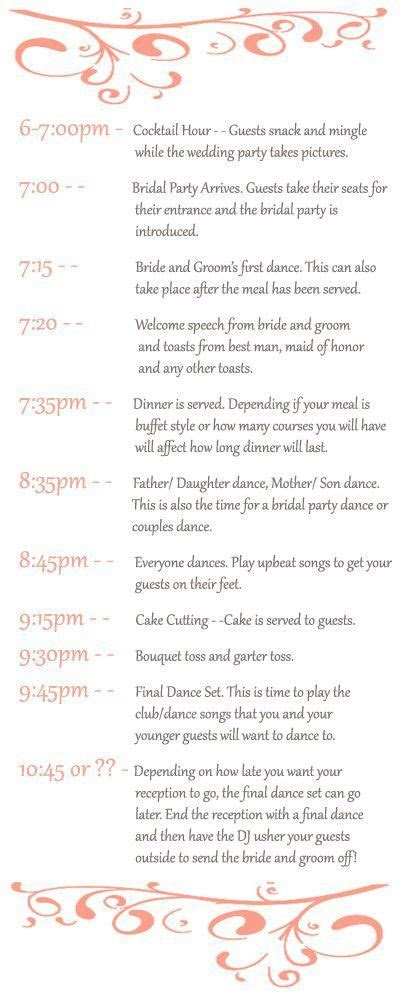 17 Best ideas about Wedding Reception Program on Pinterest