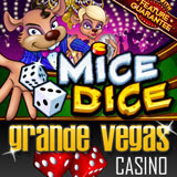 New Mice Dice online slot machine with bonus game and coupone code at GrandeVegasCasino.com