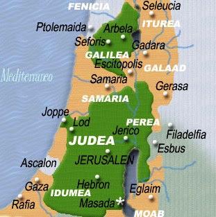 Mapa de Israel en tiempos de Jesús