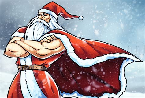 draw anime santa clause step  step christmas