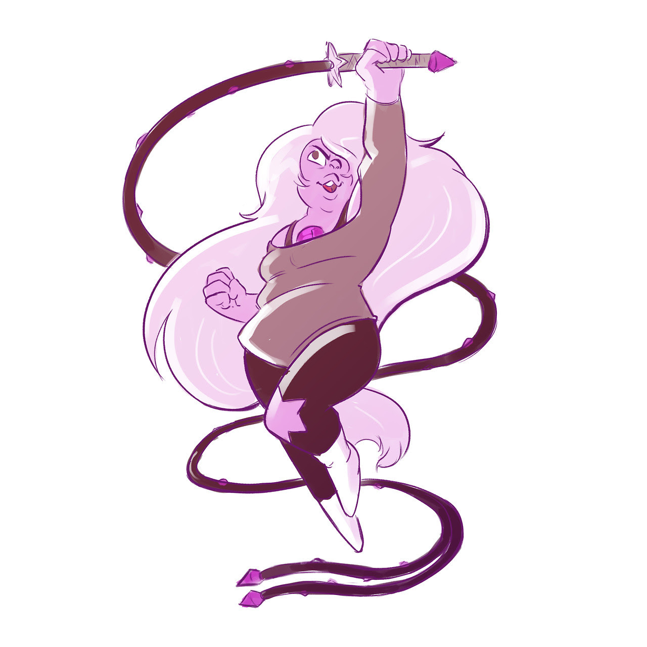 Warm-up of Amethyst from Steven Universe!
