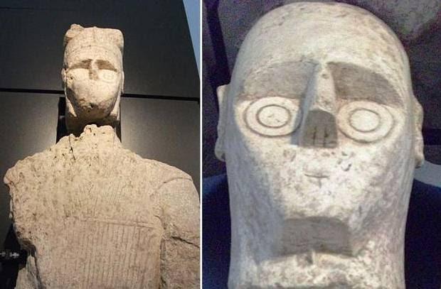 Uno de los guerreros de piedra hallados en Cerdeña.