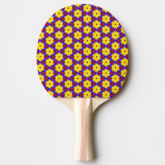 Pinwheel-like Design on Ping Pong Paddle
