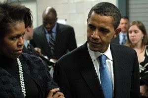 Michelle y Barack Obama. 2007