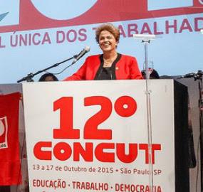Na abertura da Concut, Dilma condena golpismo