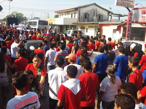 Caminhada da paz, projeto escolar, Zolito Nunes, violência, Macapá, Amapá (Foto: Jorge Abreu/G1)