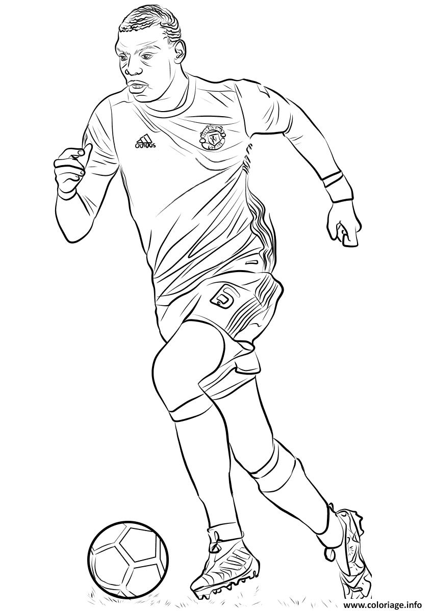 Coloriage Paul Pogba Joueur France Coupe Du Monde Jecoloriecom