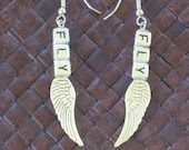 Silver Fly Metal Wing Earrings