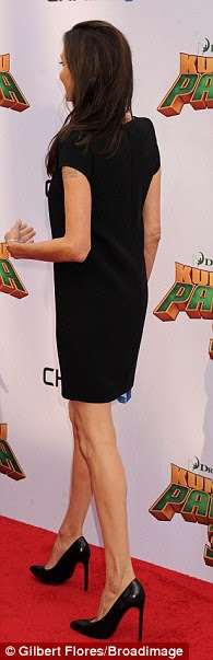 Her favourite shade: Angelina often chooses to wear black for her premieres