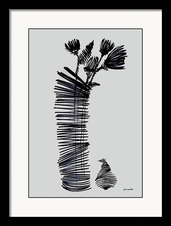 Vase Framed Print featuring the painting Uprice 1224 by Mr Caution