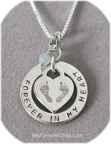 Thinking of You Customized Footprints Charm