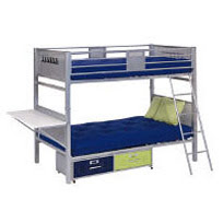 Locker Style Twin Bunk Bed with Storage