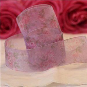 Vintage Rose Ribbon - Purple/Purple