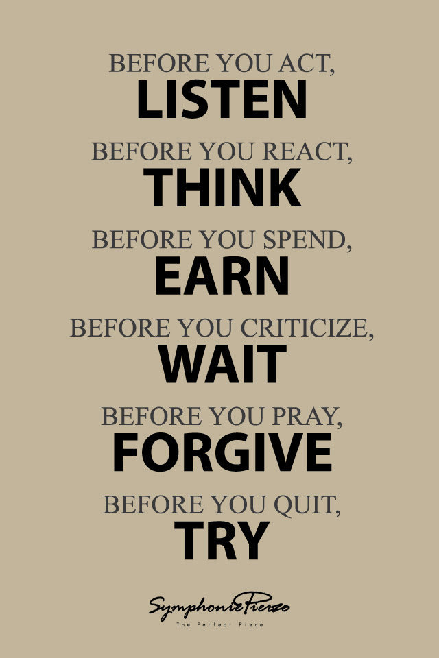 Quotes About Think Before You Act 29 Quotes