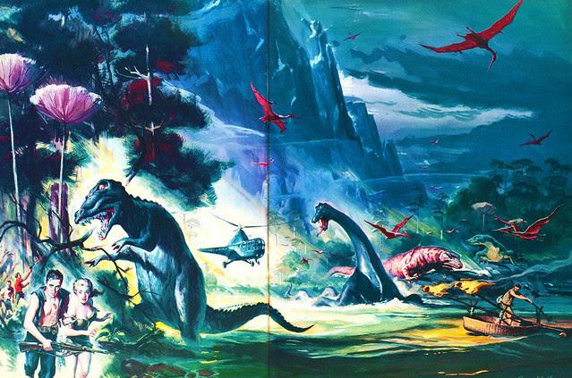 Reynold Brown - The Land Unknown, original art 2, 1957