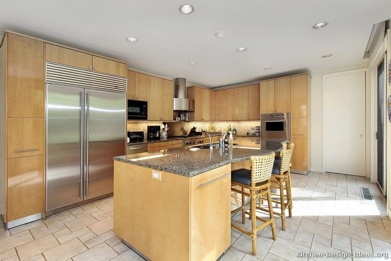 Home Architec Ideas Kitchen Design Ideas Light Wood Cabinets
