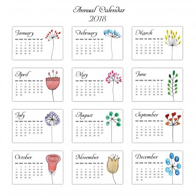 印刷して使える2018年のカレンダー無料ダウンロード素材13選 Shumi