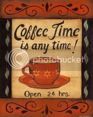 Estava só te esperando para tomarmos um cafezinho!