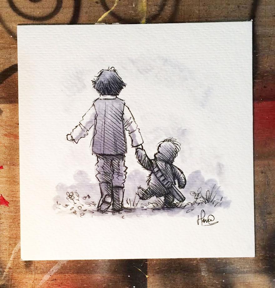 dibujos-mezcla-winnie-pooh-guerra-galaxias-james-hance (11)