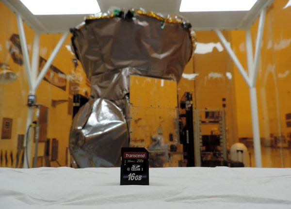 A snapshot of a memory card that carries the exoplanet drawings of 1,300 people (including Yours Truly) who submitted them online last year...prior to it being attached to NASA's TESS spacecraft at Kennedy Space Center in Florida.